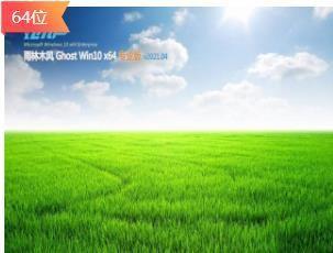 雨林木风Ghost Win10 多驱动纯净版x64 v2021.04