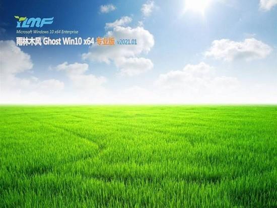 雨林木风系统 GHOST Win10 64位 1709专业版 V2021.05 自动激活