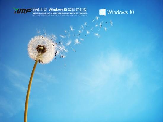 雨林木风Win10 21H1 32位专业版 V0609下载